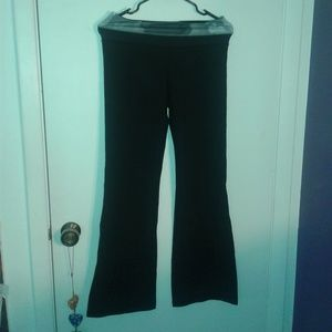 LULULEMON LONG BLACK FLARE YOGA PANTS